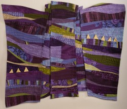 "Jill Hoddick's ""Purple Syncopation"" will be featured in ""Rhythm and Hues,"" opening on Monday."